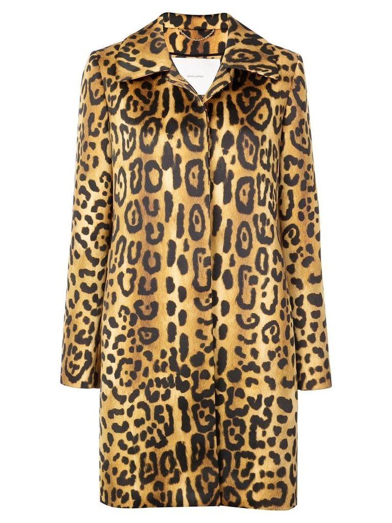 Adam Lippes leopard print coat - Multicolour