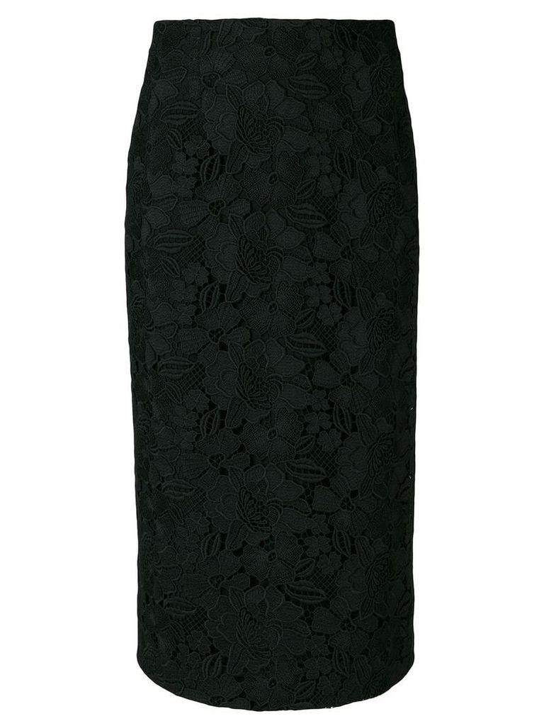 Nº21 straight midi skirt - Black