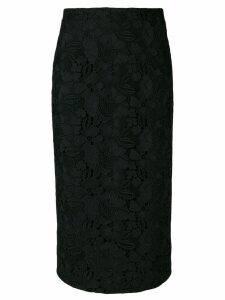 Nº21 straight midi skirt - Black