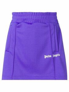 Palm Angels side stripe A-line track skirt - Purple