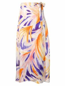 Forte Forte printed side tie skirt - Orange