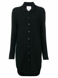 Barrie cashmere knitted shirt dress - Black
