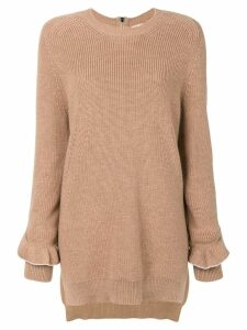 Nº21 frill sleeve jumper - Brown