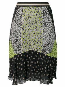 Dorothee Schumacher panelled floral print skirt - Black
