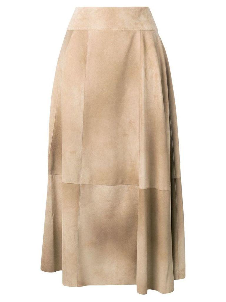 Bottega Veneta airbrush printed midi skirt - Neutrals