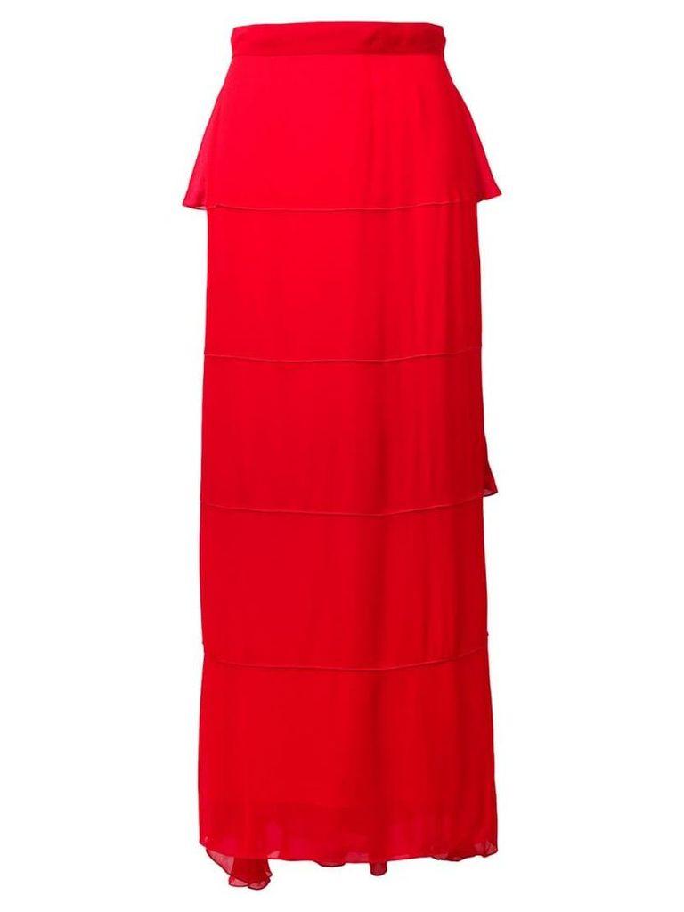 Karl Lagerfeld layered maxi skirt