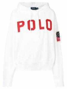 Polo Ralph Lauren printed logo hoodie - White