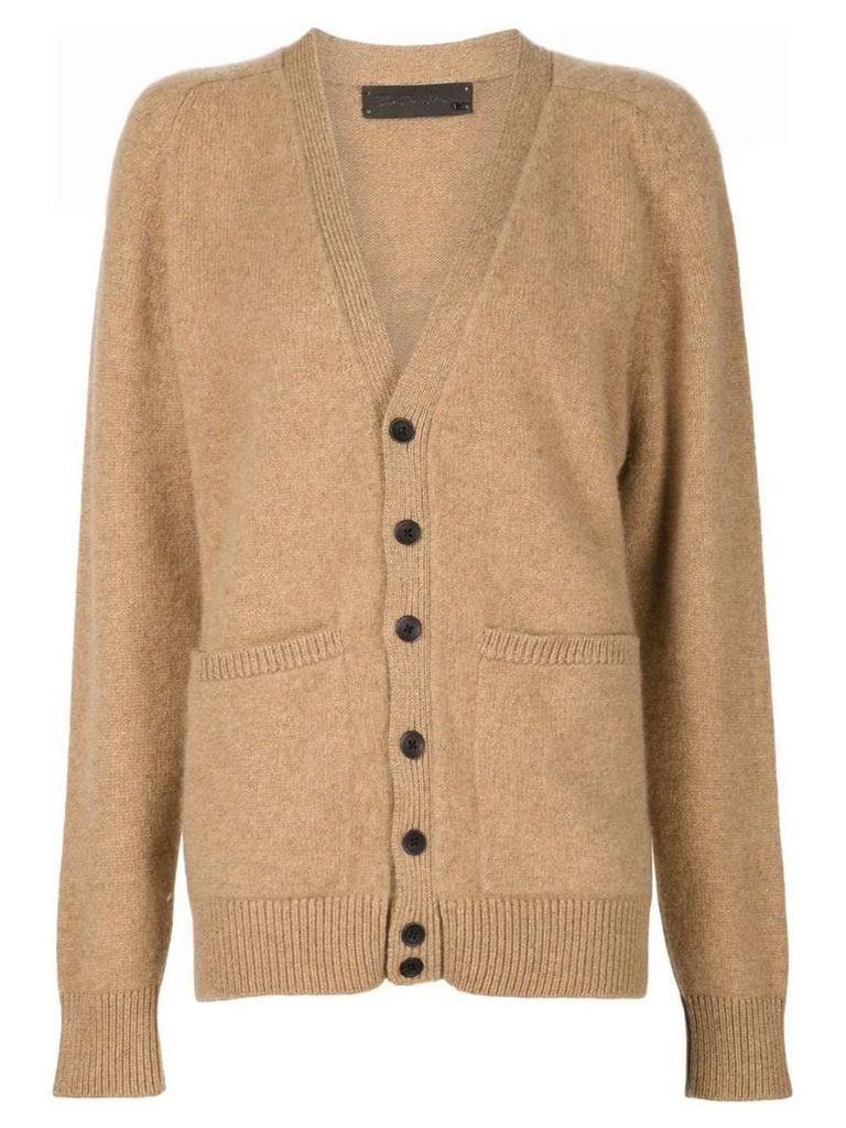 The Elder Statesman cashmere v-neck cardigan - Brown