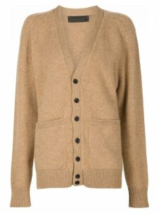 The Elder Statesman cashmere v-neck cardigan - Brown