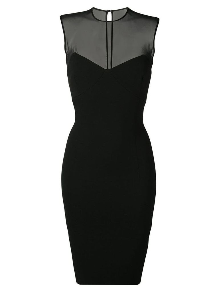 Victoria Beckham sleeveless fitted pencil dress - Black