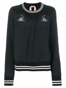 Nº21 embellished top - Black