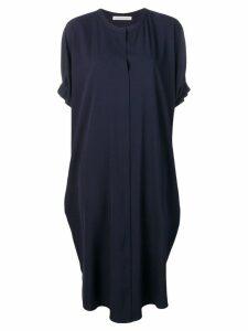 Stefano Mortari ruffle sleeve oversized dress - Blue
