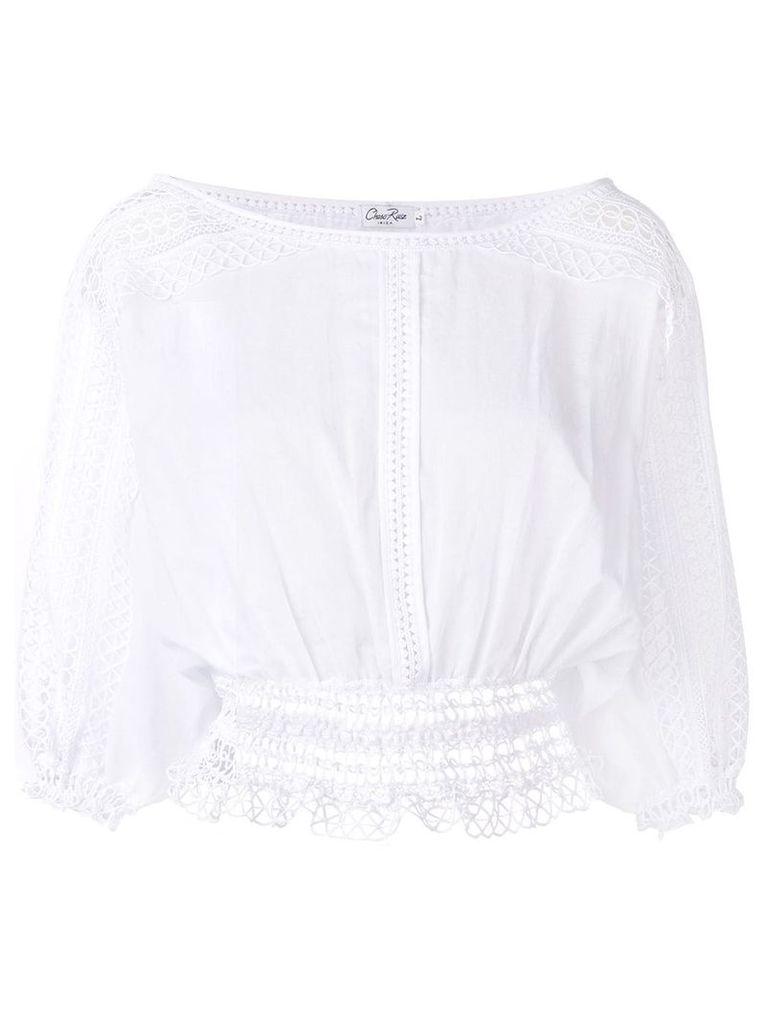 Charo Ruiz crochet trim blouse - White