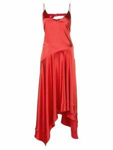 Fleur Du Mal handkerchief midi dress - Red