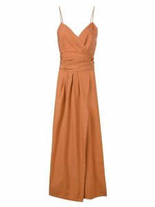 Three Graces Martha midi dress - Brown