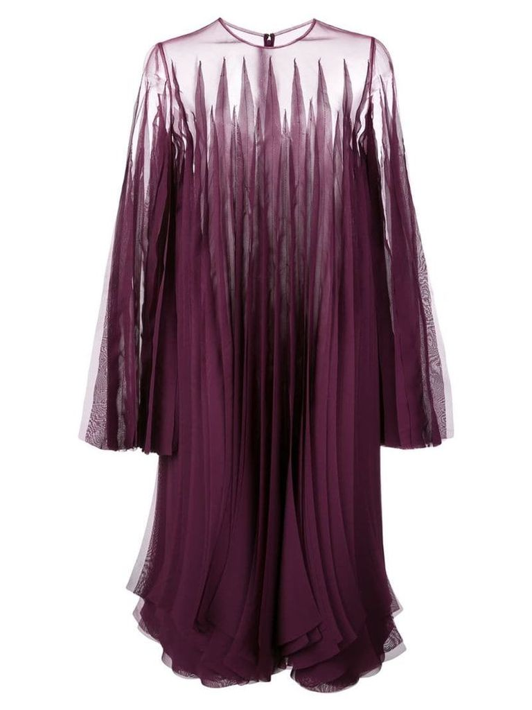 Rubin Singer laser cut shift dress - Purple