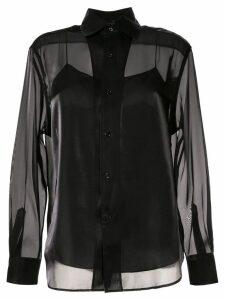 Ralph Lauren Collection satin structured shirt - Black