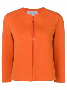 Harris Wharf London textured collarless jacket - Orange