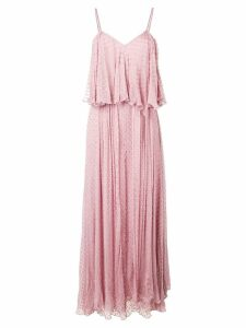 Mes Demoiselles textured ruffle maxi dress - Purple