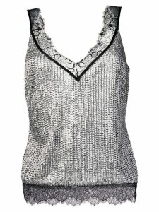 Amen embellished camisole top - Metallic