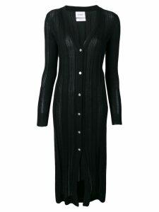 Barrie ribbed cardi-coat - Black