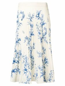 Ssheena pleated floral print skirt - Neutrals