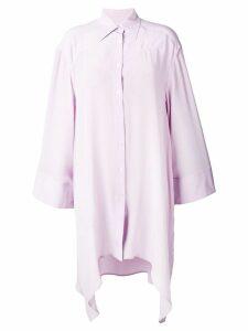 Faith Connexion oversized asymmetric shirt - Purple