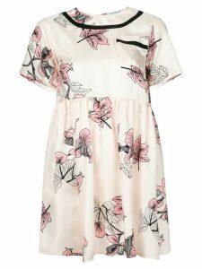 Vivetta floral flared dress - NEUTRALS