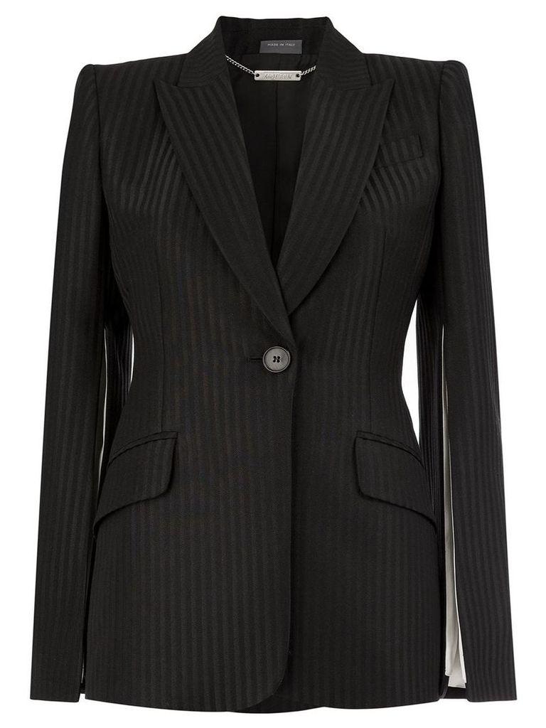 Alexander McQueen pinstripe blazer - Black