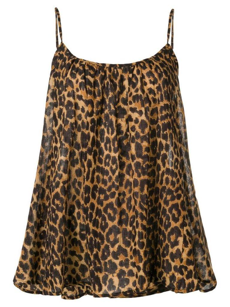 Mes Demoiselles leopard flared top - Brown