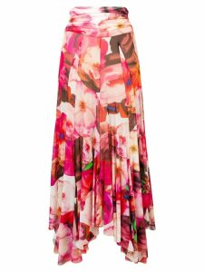 MSGM pleated floral skirt - Pink