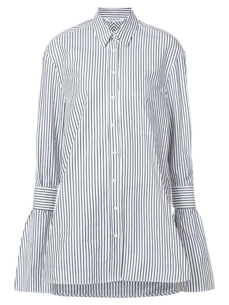 Neil Barrett striped pattern tunic - White