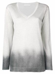 Fabiana Filippi lamé V-neck sweater - Silver