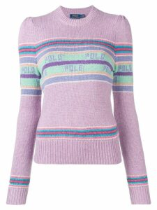 Polo Ralph Lauren striped logo jumper - Purple