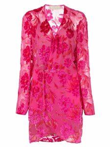 Fleur Du Mal floral wrap dress - Pink