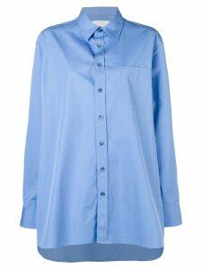 Maison Margiela oversized cotton shirt - Blue