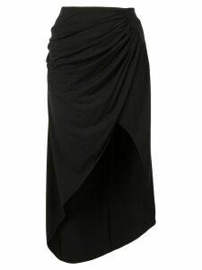 Fleur Du Mal draped midi skirt - Black