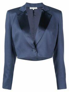 Fleur Du Mal cropped blazer - Blue
