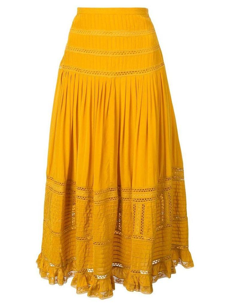 Sea Poppy midi skirt - Yellow