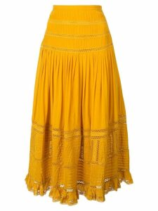 Sea Poppy midi skirt - Yellow
