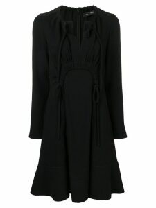 Proenza Schouler Crepe textured long sleeve dress - Black