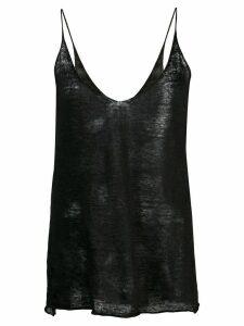 Nili Lotan knitted cami top - Black