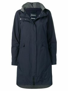 Herno hooded raincoat - Blue