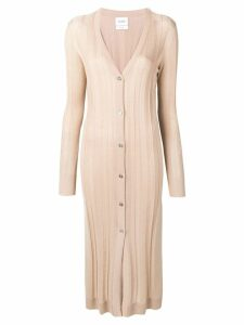 Barrie knitted cardigan midi dress - Neutrals