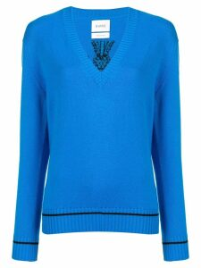Barrie V-neck pullover jumper - Blue