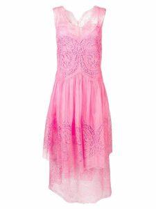 Stella McCartney eyelet-embellished midi dress - Pink