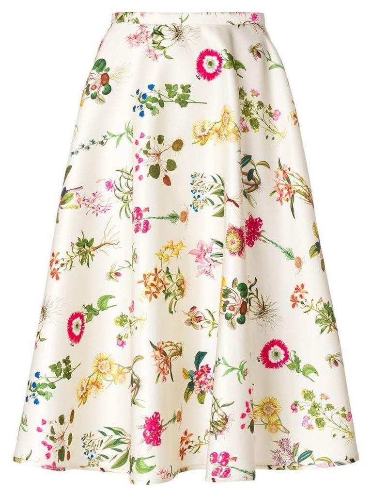 Nº21 floral print skirt - Neutrals