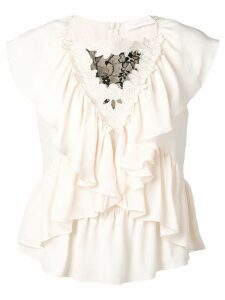 See By Chloé frill-trim blouse - Neutrals