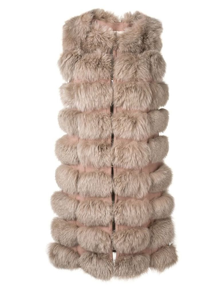 Liska padded gilet coat - Neutrals
