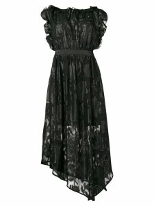 Three Floor floral matrix dress - Black